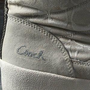 Coach Shoes - Caoch Faith Fur Trimmed Winter Boots